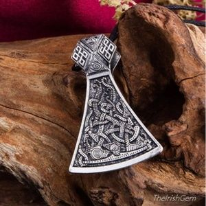 Other - Viking Mammen Axe Pendant Necklace
